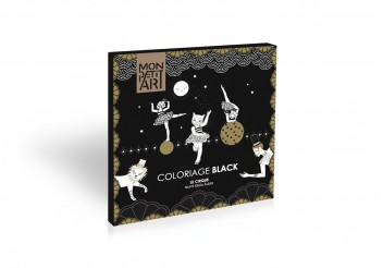 Black & gold coloring book