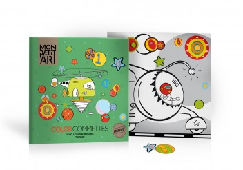 Coloring book with stickers - Extraordinary Vehicles