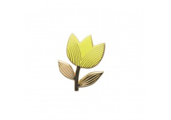 PIN'S TULIPE GRAPHIQUE LEMON