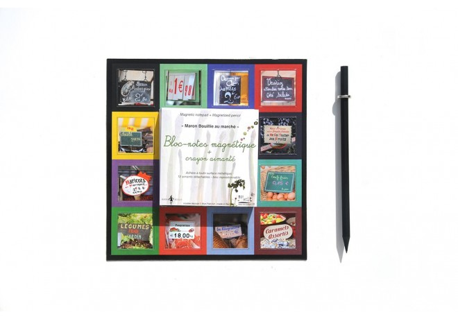 Magnetic notepad - At the market