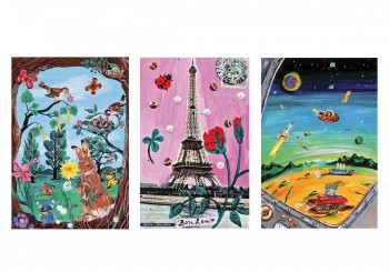 Set of  3 Posters by Nathalie LETE