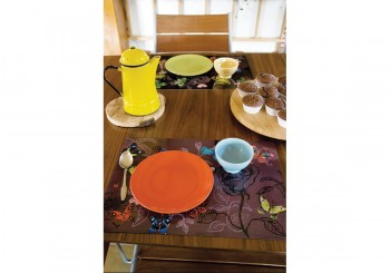 4 table mats - Papillons