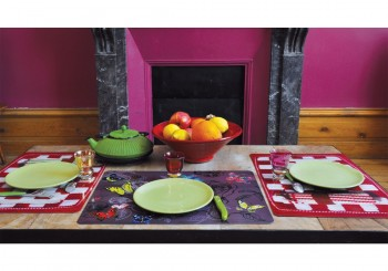 2 Packs of 4 table mats - Trompe l'Oeil & Papillons