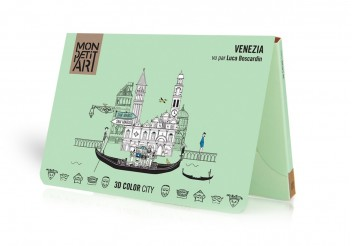 3D Color City - Venecia para colorear