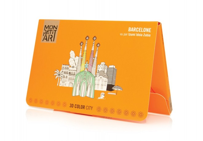 3D Color City - Barcelona