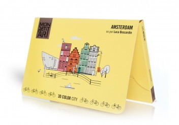 3D Color City - Amsterdam para colorear