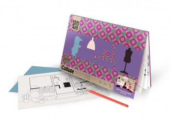 Coloring book with collage - Boutiques