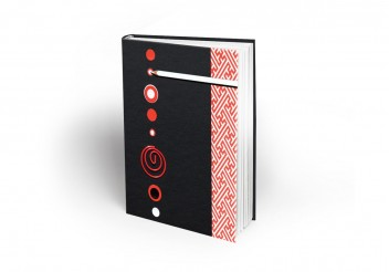 Notebook Maron Bouillie - Pois rouge, pois blanc