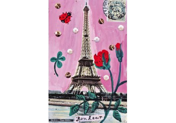 Affiche - Paris en rose
